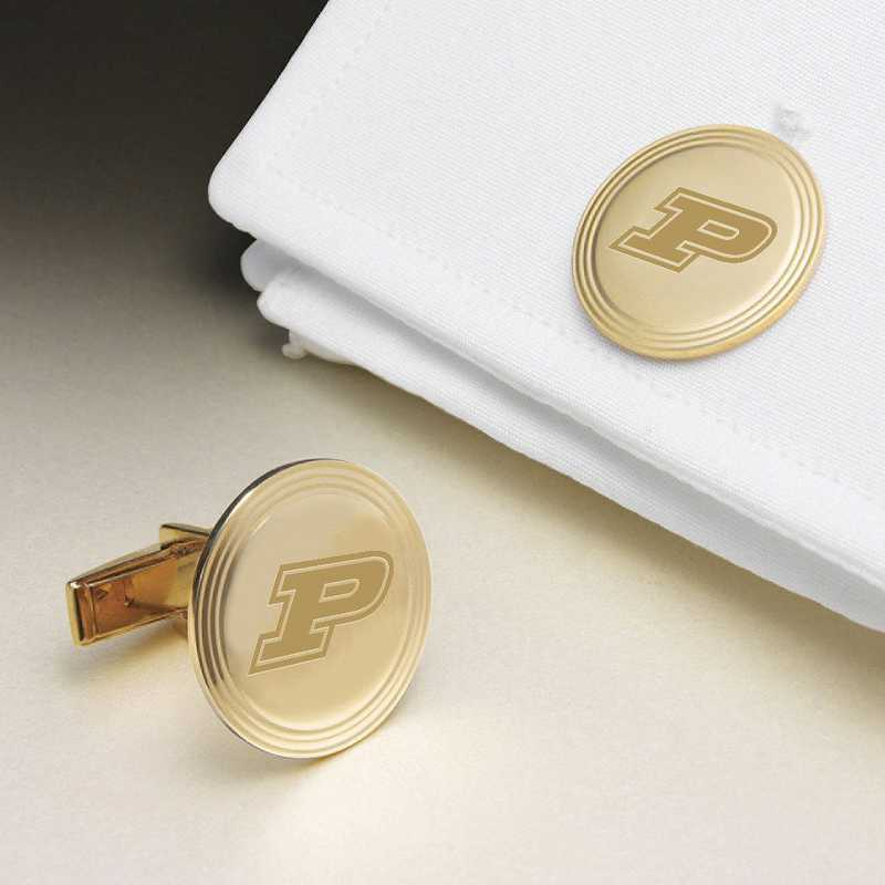 615789907671: Purdue Univ 14K Gld Cufflinks by M.LaHart & Co.