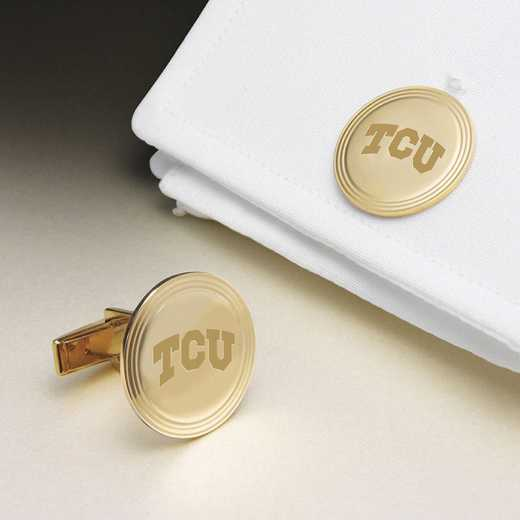 615789330653: TCU 14K Gld Cufflinks by M.LaHart & Co.