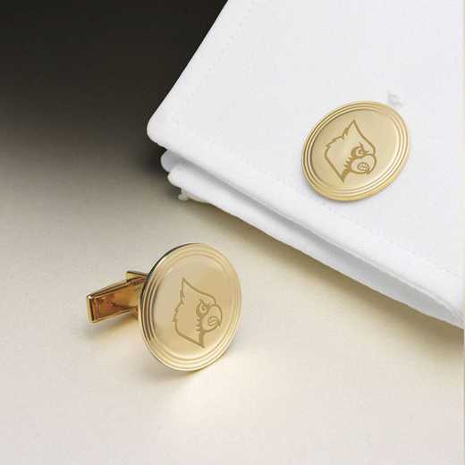 615789909071: Univ of Louisville 18K Gld Cufflinks by M.LaHart & Co.