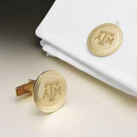 615789535638: Texas A&M 18K Gld Cufflinks by M.LaHart & Co.