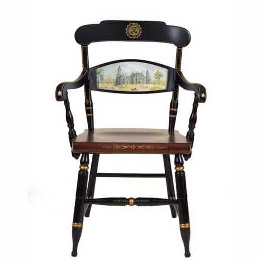 615789456643: Hand-painted Univ of Pennsylvania Campus Chair by Hitchcock