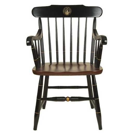 615789924449: Davidson College Captain's Chair by Hitchcock