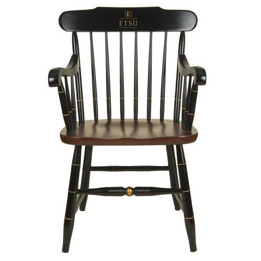 615789420569: East Tennessee St University Captain's Chair by Hitchcock