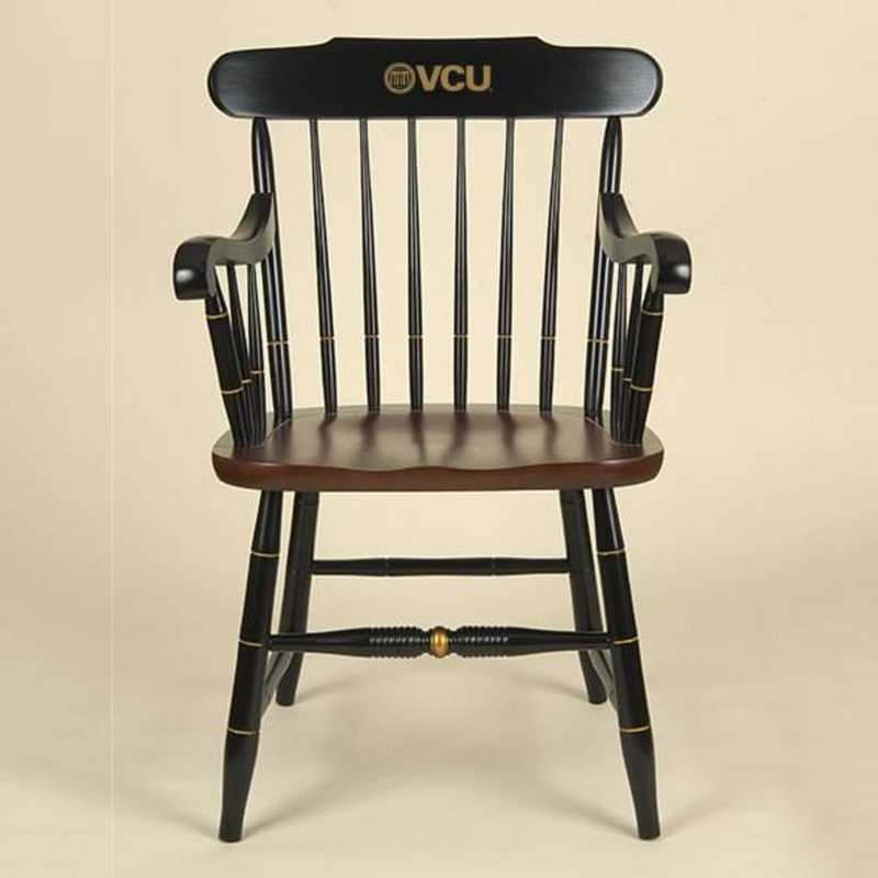 615789186281: Virginia Commonwealth Univ Captain's Chair by Hitchcock