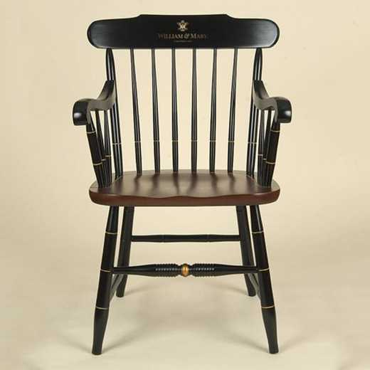 615789108870: College of William & Mary Captain's Chair by Hitchcock