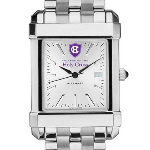 615789450429: Holy Cross Men's Collegiate Watch w/ Bracelet