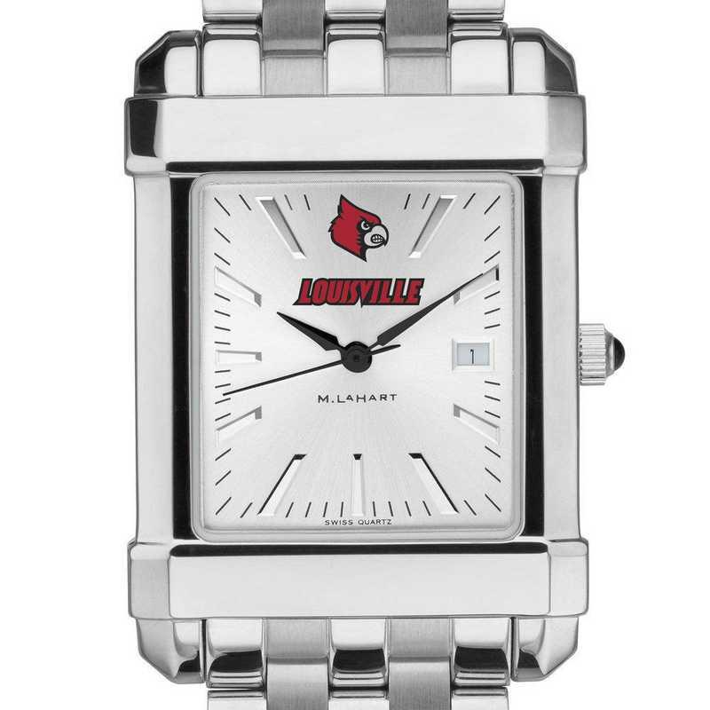 615789857624: University of Louisville Men's Collegiate Watch w/ Bracelet