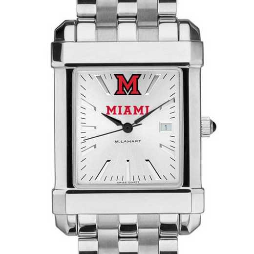 615789426462: Miami University Men's Collegiate Watch w/ Bracelet