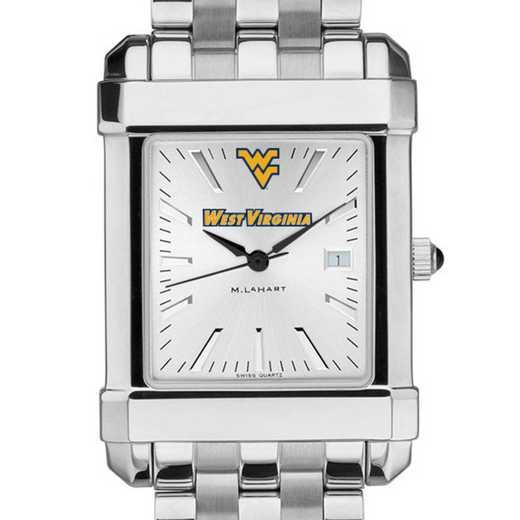 615789780212: West Virginia University Men's Collegiate Watch w/ Bracelet
