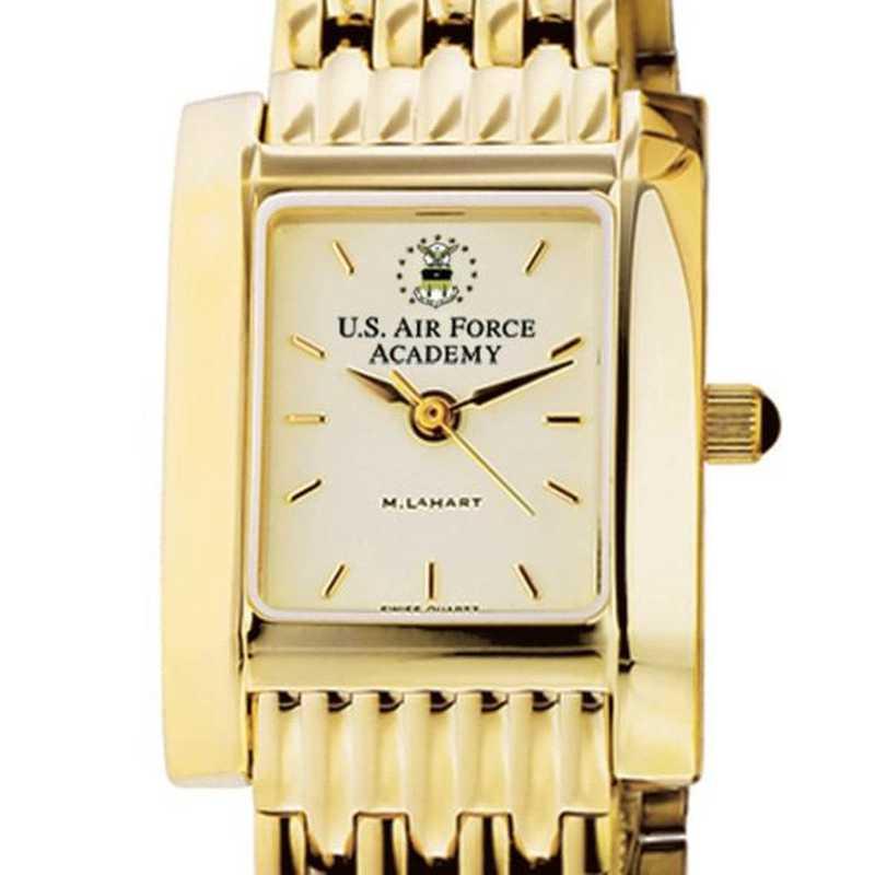 615789247272: USAFA Women's Gold Quad Watch with Bracelet