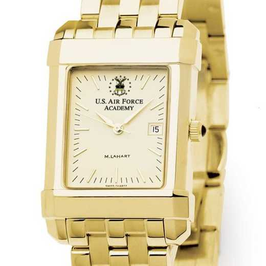 615789352563: USAFA Men's Gold Quad Watch with Bracelet
