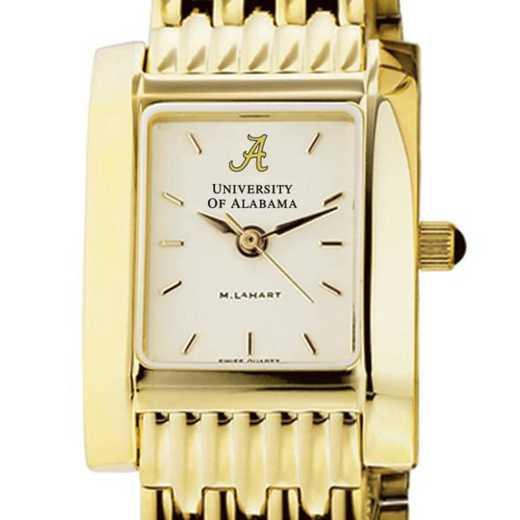 615789203056: Alabama Women's Gold Quad Watch with Bracelet