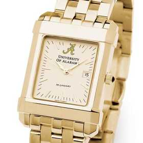 615789968481: Alabama Men's Gold Quad Watch with Bracelet