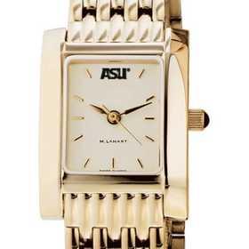 615789121015: ASU Women's Gold Quad Watch with Bracelet
