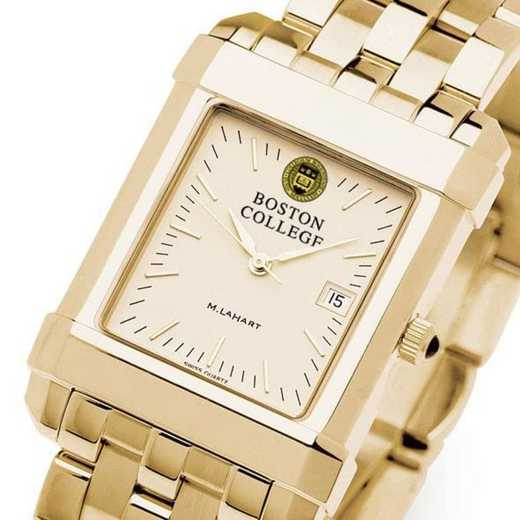 615789151760: Boston College Men's Gold Quad Watch with Bracelet