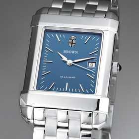 615789479949: Brown Men's Blue Quad Watch with Bracelet