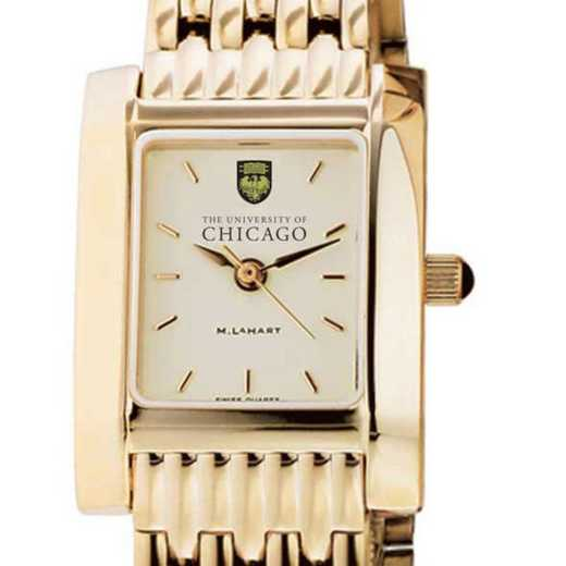 615789866947: Chicago Women's Gold Quad Watch with Bracelet