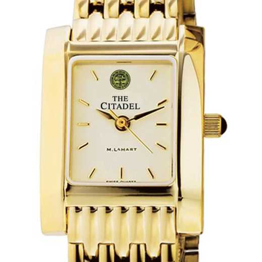 615789285526: Citadel Women's Gold Quad Watch with Bracelet