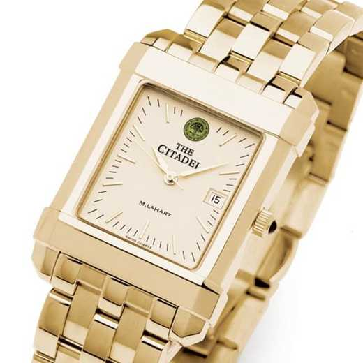 615789736899: Citadel Men's Gold Quad Watch with Bracelet