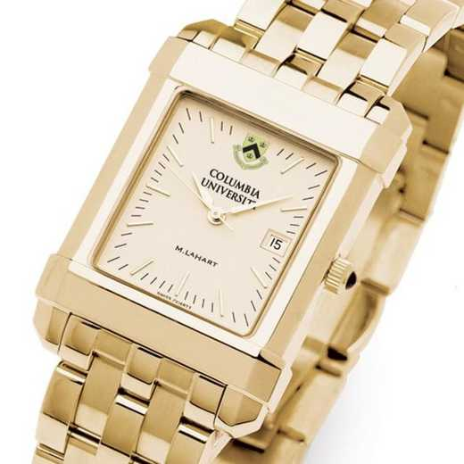 615789410584: Columbia University Men's Gold Quad Watch with Bracelet