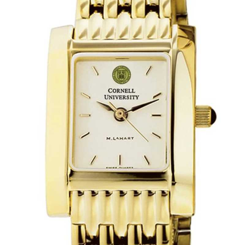 615789411680: Cornell Women's Gold Quad Watch with Bracelet