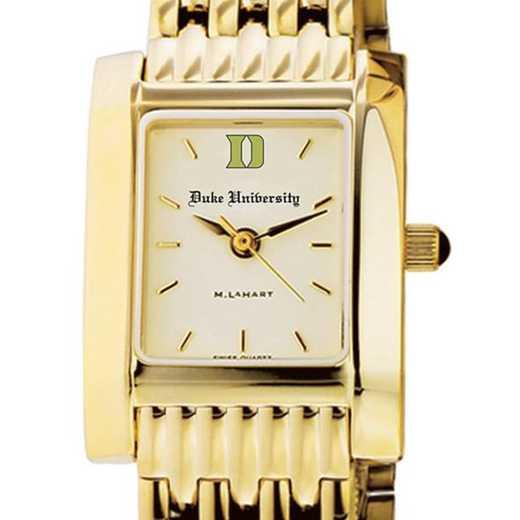 615789778066: Duke Women's Gold Quad Watch with Bracelet
