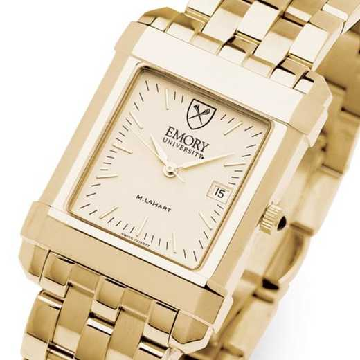 615789191094: Emory Men's Gold Quad Watch with Bracelet