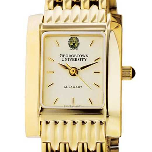 615789563266: Georgetown Women's Gold Quad Watch with Bracelet