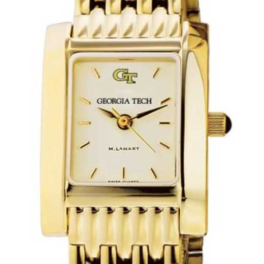 615789452485: Georgia Tech Women's Gold Quad Watch with Bracelet