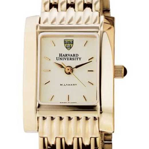 615789410140: Harvard Women's Gold Quad Watch with Bracelet