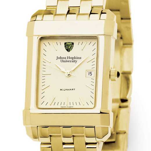 615789290421: Johns Hopkins Men's Gold Quad Watch with Bracelet