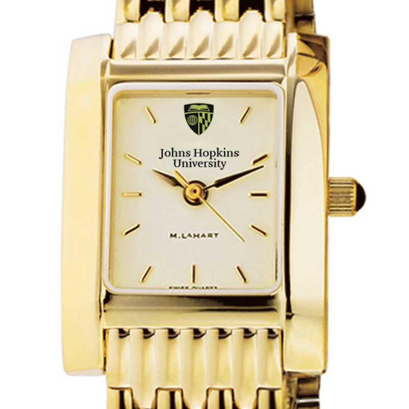 615789359838: Johns Hopkins Women's Gold Quad Watch with Bracelet