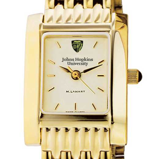 615789359838: Johns Hopkins Women's Gold Quad Watch with Bracelet