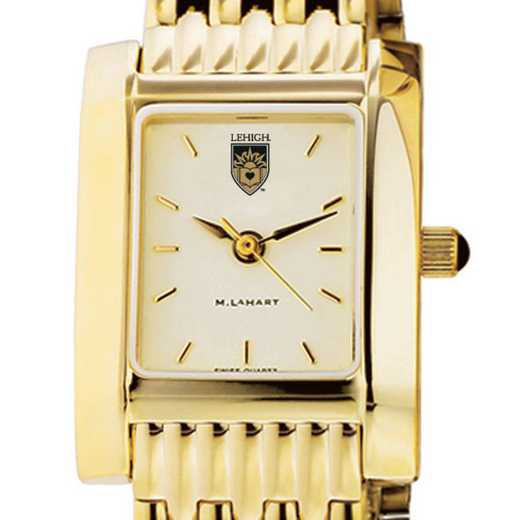 615789616467: Lehigh Women's Gold Quad Watch with Bracelet