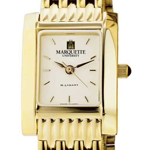 615789671886: Marquette Women's Gold Quad Watch with Bracelet