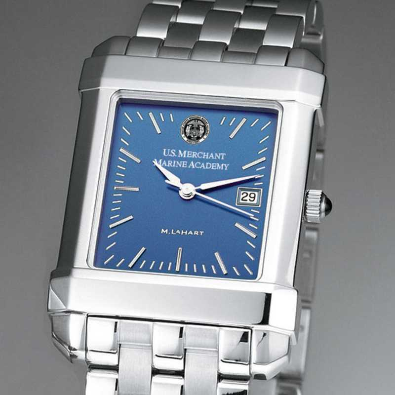 615789745532: USMMA Men's Blue Quad Watch with Bracelet