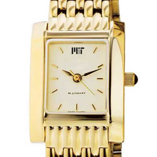 615789656586: MIT Women's Gold Quad Watch with Bracelet