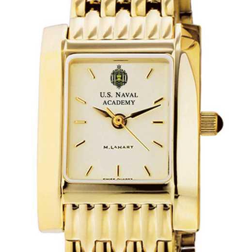 615789167822: USNA Women's Gold Quad Watch with Bracelet