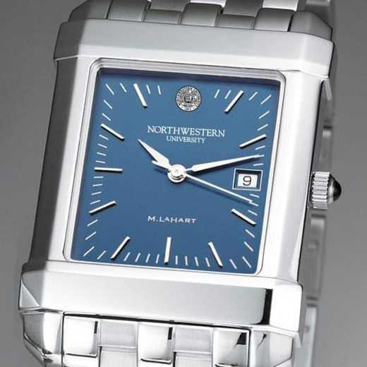 615789544685: Northwestern Men's Blue Quad Watch with Bracelet