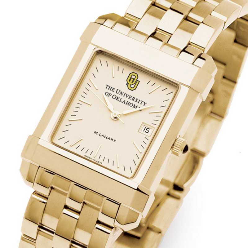 615789432913: Oklahoma Men's Gold Quad Watch with Bracelet