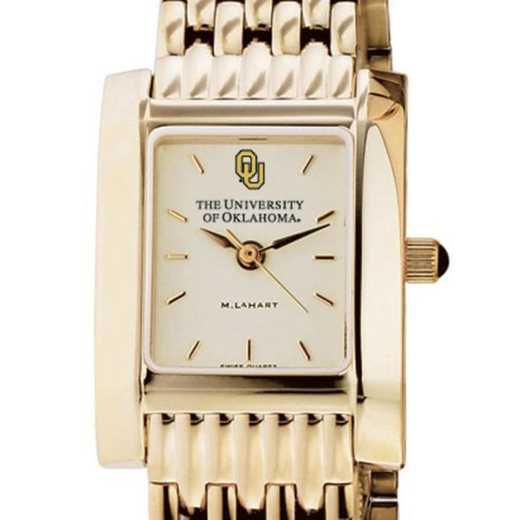 615789542292: Oklahoma Women's Gold Quad Watch with Bracelet