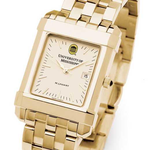 615789662587: Ole Miss Men's Gold Quad Watch with Bracelet