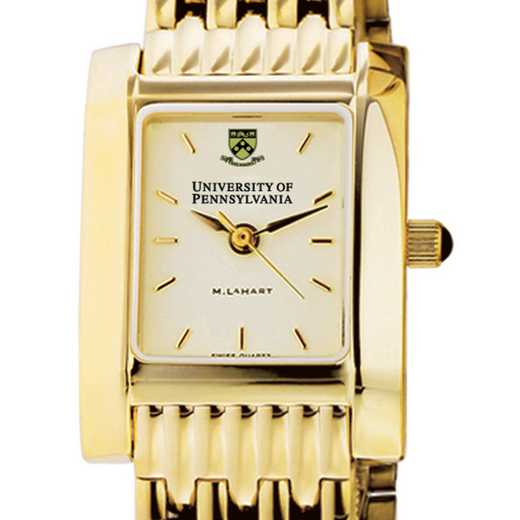 615789410782: Penn Women's Gold Quad Watch with Bracelet