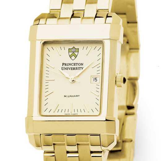 615789827672: Princeton Men's Gold Quad Watch with Bracelet