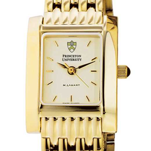 615789929406: Princeton Women's Gold Quad Watch with Bracelet
