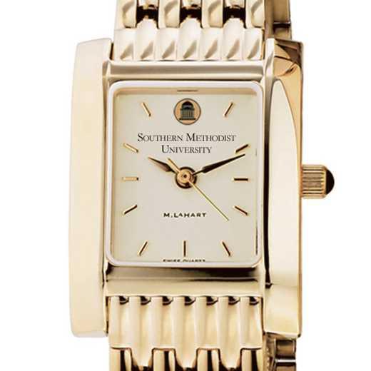 615789762003: SMU Women's Gold Quad Watch with Bracelet