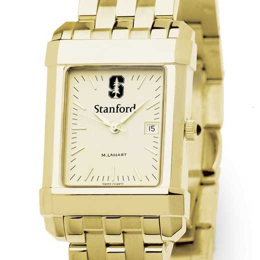 615789030003: Stanford Men's Gold Quad Watch with Bracelet