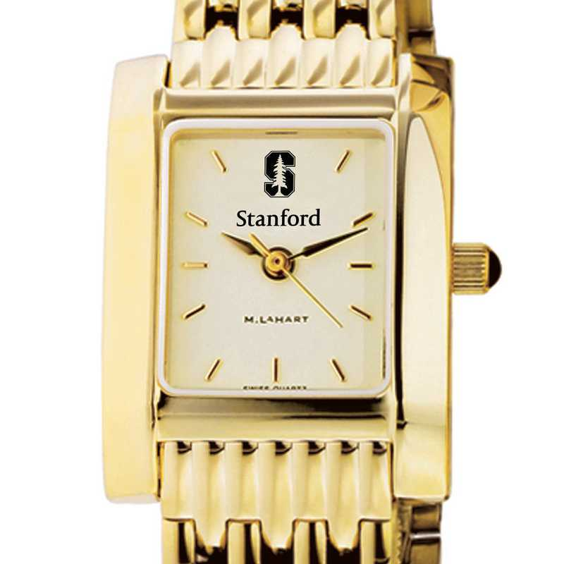 615789667933: Stanford Women's Gold Quad Watch with Bracelet