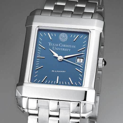 615789411185: TCU Men's Blue Quad Watch with Bracelet