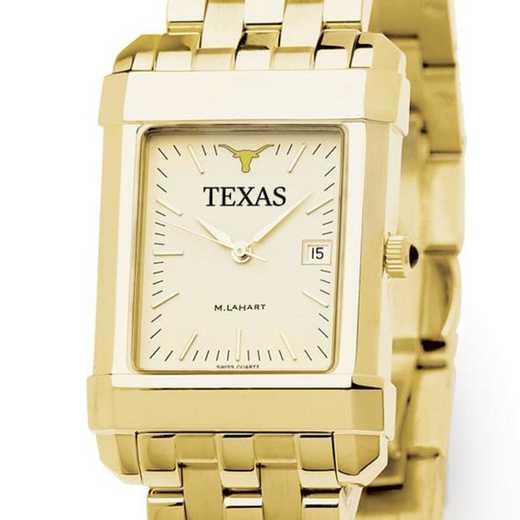 615789054085: Texas Men's Gold Quad Watch with Bracelet